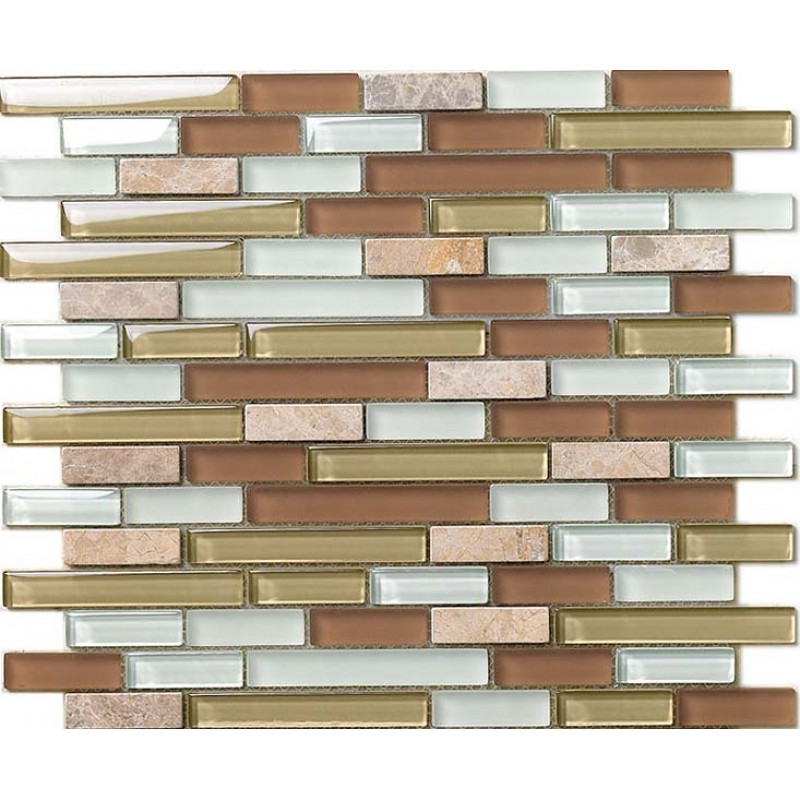 Natural Stone With Crystal Mosaic Tile