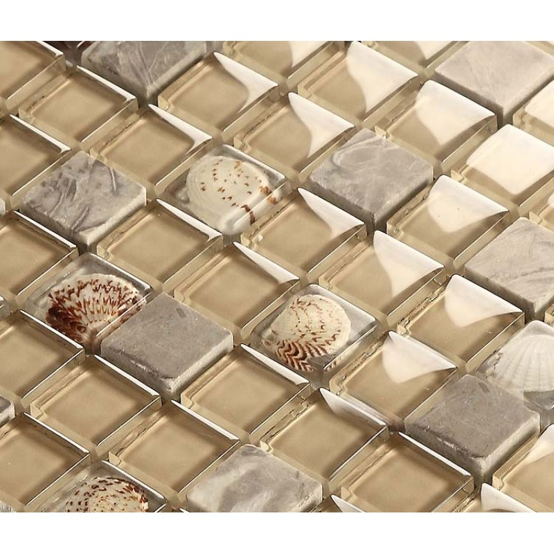 Tile Backsplash Resin Shell Tiles