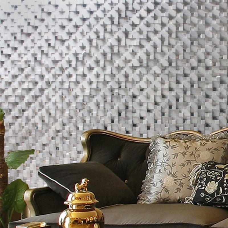 3d Wall Tiles For Kitchen: Stone Glass Mosaic Tile Gray 3D Bathroom Wall Tiles