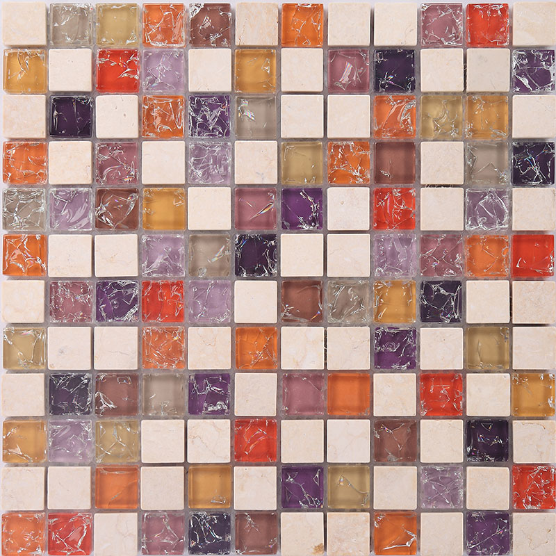 stone and glass mosaic sheets square tiles marble tile
