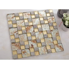 natural stone mosaic tile crystal glass & marble tile bathroom tile flooring kitchen backsplash tiles KLGTM69