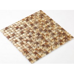 Stone Glass Mosaic Tile Ice-Crack Glass With Marble Backsplash Wall Stickers Floor Tiles RGS001