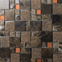 natural marble tile brown stone tiles crystal glass mosaice tile kitchen backsplash bathroom wall backspalshes SBLT632