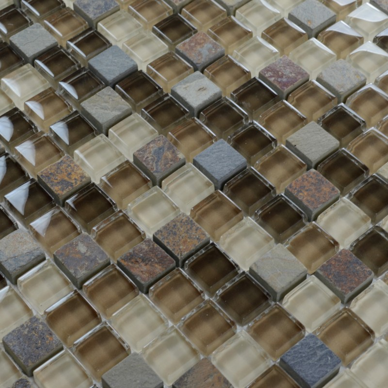 stone glass mosaic tile brown square tiles with marble tile backsplash