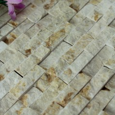 Stone Glass Mosaic Tile Natural Wood Pattern Wall Marble Tiles Backsplash Mosaic Tile SGS06-1