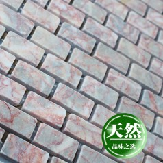 Stone Mosaic Tile Red Subway Pattern Bathroom Wall Marble Kitchen Backsplash Floor Tiles SGS110-G1530