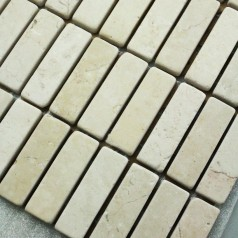 Stone Mosaic Tile Beige Strip Patterns Wall Marble Tile Kitchen Backsplash Floor Tiles SGS1407-5