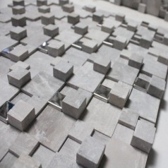 Stone Mosaic Tile Gray 3D Bathroom Wall Marble Tiles Backsplash Kitchen SGS4214