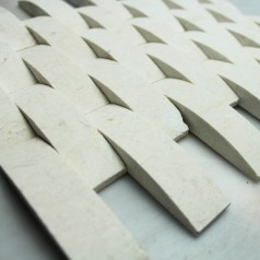 Stone Glass Mosaic Tile Natural Wood Pattern Wall Marble Tiles Backsplash Mosaic Tile SGS43-3