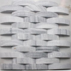 Stone Glass Mosaic Tile Natural Wood Pattern Wall Marble Tiles Backsplash Mosaic Tile SGS43-3 Grey