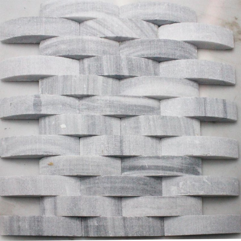 Stone Glass Mosaic Tile Natural Wood Pattern Wall Marble Tiles Backsplash  Mosaic Tile SGS43 3 ...