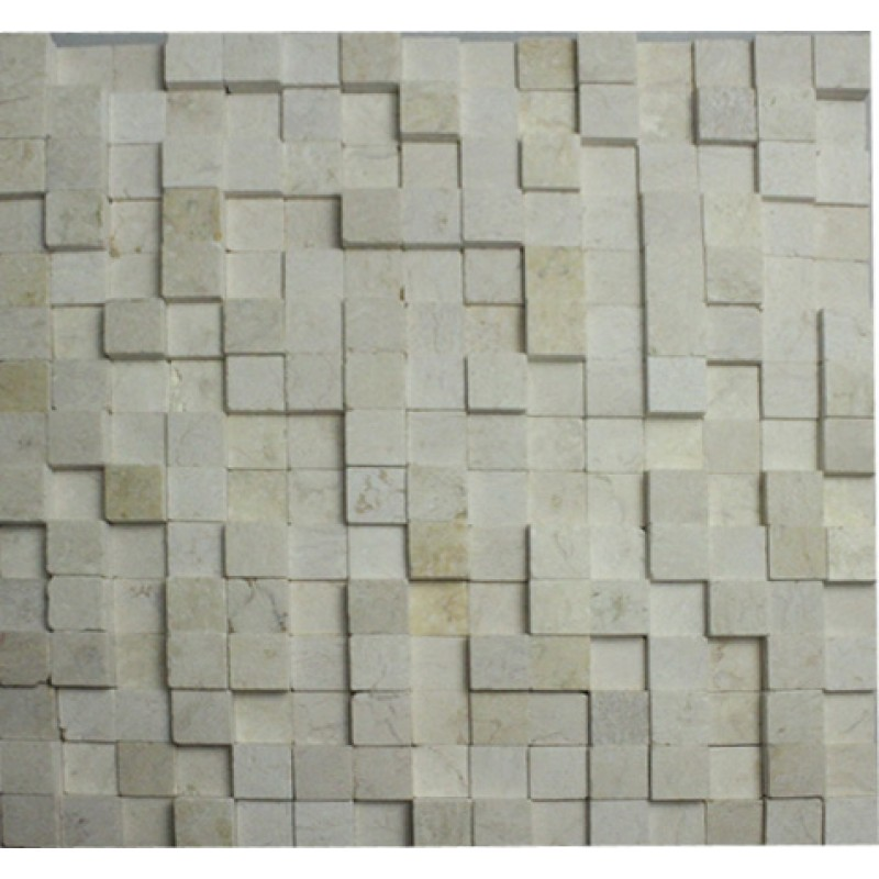 Cobblestone Backsplash stone glass mosaic tile stainless steel metal wall tiles