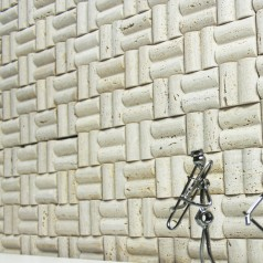 Stone Glass Mosaic Tile Natural Wood Pattern Wall Marble Tile Backsplash Mosaic Tile SGS49