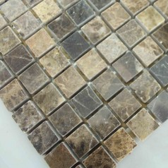 Stone Mosaic Tile Square Brown Pattern Washroom Wall Marble Backsplash Floor Tiles SGS58-15A