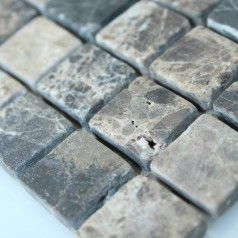 Stone Mosaic Tile Square Grey Patterns Bathroom Wall Marble Kitchen Backsplash Floor Tiles SGS58-20B