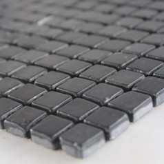 Stone Mosaic Tile Square Black Patterns Bathroom Wall Marble Kitchen Backsplash Floor Tiles SGS62-15B