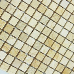 Stone Mosaic Tile Square Yellow Patterns Washroom Wall Marble Kitchen Backsplash Floor Tiles SGS73-15B
