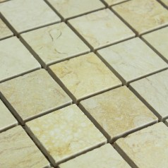 Stone Mosaic Tile Square Beige Patterns Kitchen Wall Marble Backsplash Floor Tiles SGS73-48A