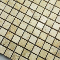 Stone Mosaic Tile Yellow Pattern Washroom Wall Marble Kitchen Backsplash Floor Tiles SGS78-15A