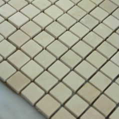 Beige Stone Mosaic Tile Square Pattern Bathroom Wall Marble Kitchen Backsplash Floor Tiles SGS80-15A