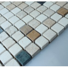 Stone Mosaic Tile Square Patterns Bathroom Wall Marble Kitchen Backsplash Floor Tiles SGSH-4-1