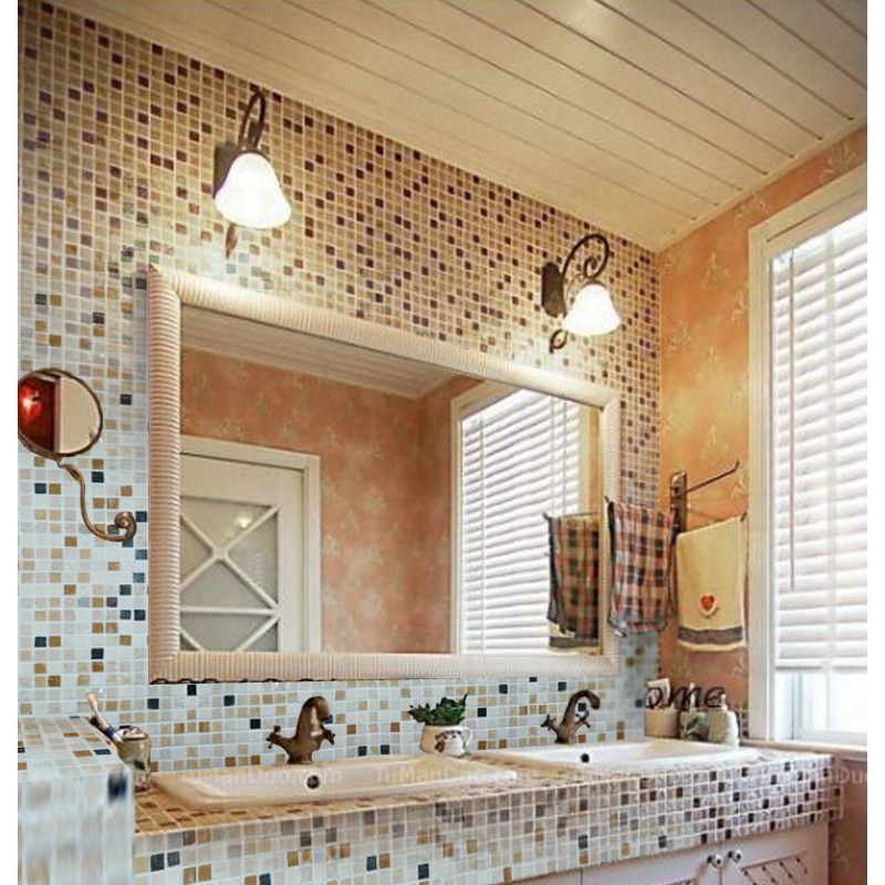 Mosaic Tile Square Patterns Bathroom Wall Marble Kitchen ...