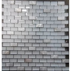 Mother Of Pearl Glass Tile Mirrored Subway Tiles Decorative White Tile Backsplash