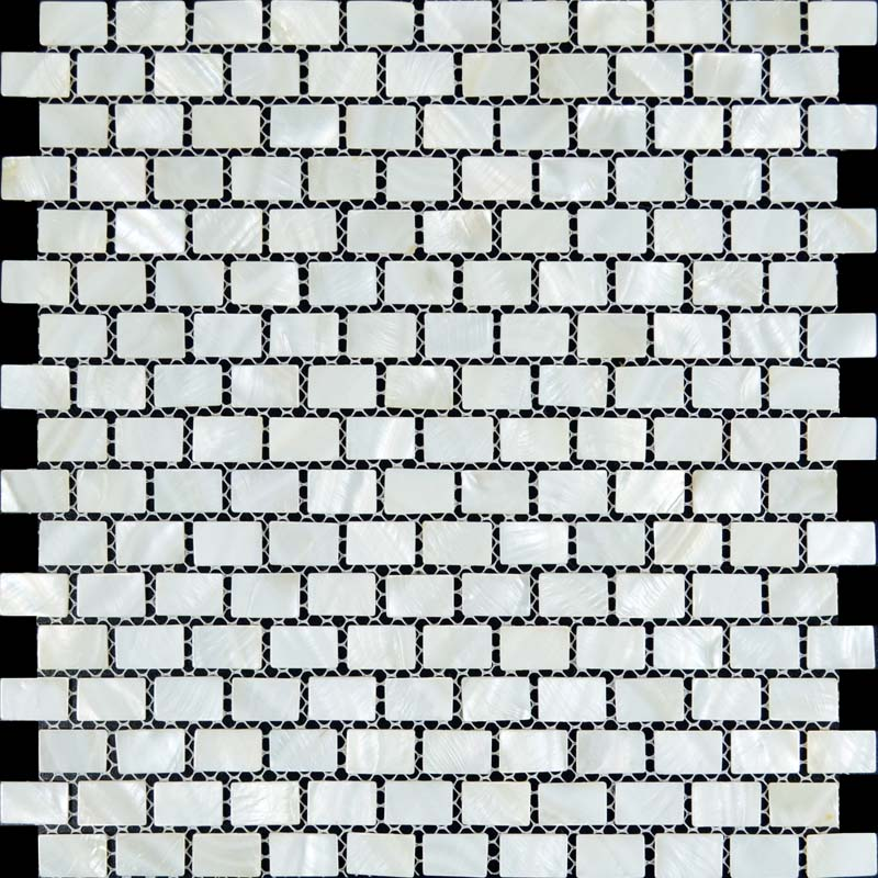 Wholesale Natural White Mother Of Pearl Tile Sheets Subway