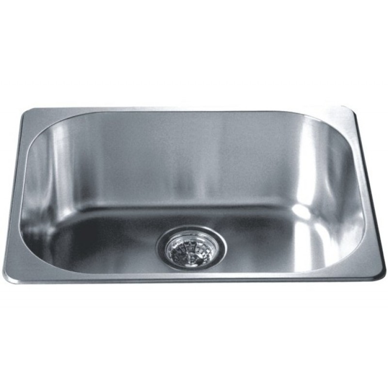 Top Mount Kitchen Sink 304 Stainless Steel 18/10 Chrome Nickel Single Bowl  20 Gauge ...