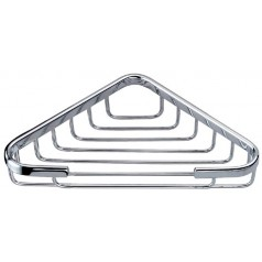 Triangle Soap Basket Chrome Finish Bath Accessories Bathroom Shower Soap Dishes Satin Holder