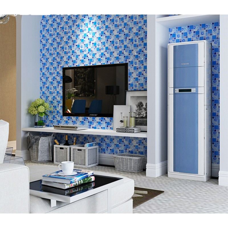 Blue Glass Mosaic Tiles Crackle Tile Hand Paint Tile Kitchen Wall Tv Wall Backsplashes Decor Klgt372