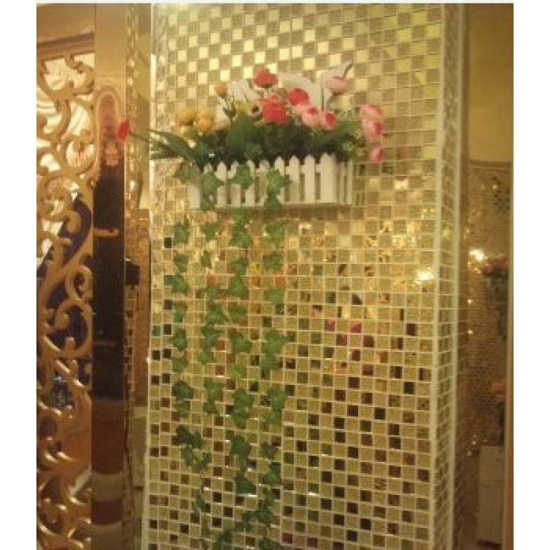 mosaic tile bathroom mirror mirror tile backsplash gold glass mosaic wall 19665