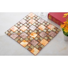 crystal glass mosaic tile sheets kitchen backsplash cheap bathroo shower tile designs wall tile backsplashes KLGTJ03