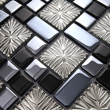 metal coating mosaic tiles art design glass tile bedroom kitchen washroom hall backsplashes KQYT171