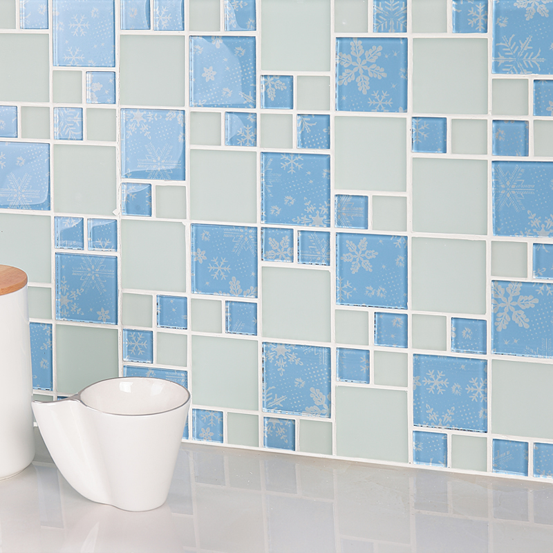 light bule crystal glass mosaic tile frosted tiles kitchen
