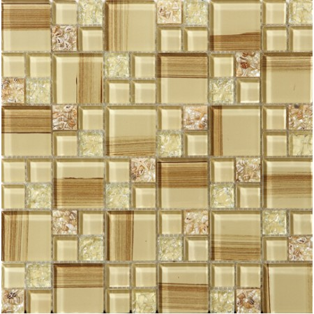 crackle glass tile hand paint cystal glass resin with conch tile backsplash wall tiles decor SBLT187