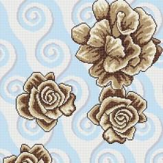 crystal glass mosaic tile puzzle tile wall backsplashes glass tile murals bathroom tile decor flower pattern KQYT542