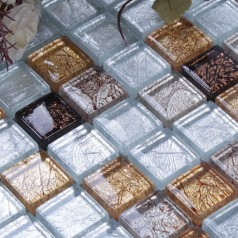Vitreous Mosaic Tile Crystal Glass Backsplash of  Kitchen Design Bathroom Wall Tiles Floors