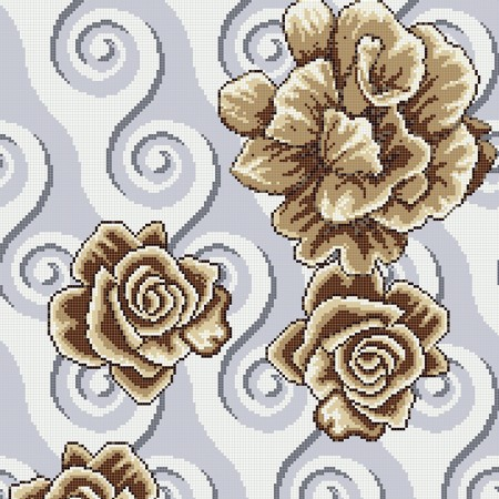 crystal glass mosaic tile puzzle tile wall backsplashes glass tile murals bathroom tile decor flower pattern KQYT541