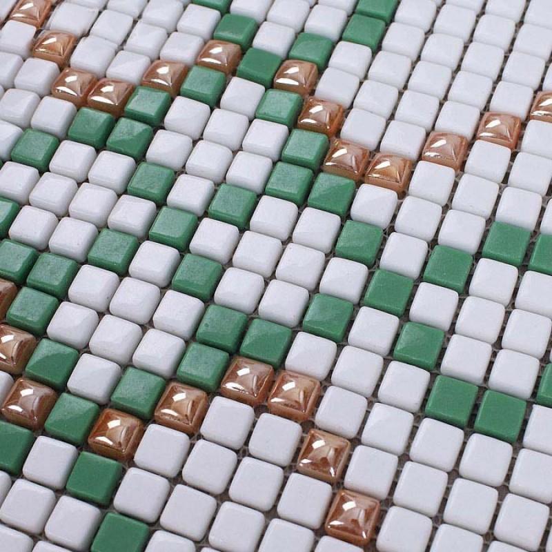 Mosaic Tile Pattern Glazed Crystal