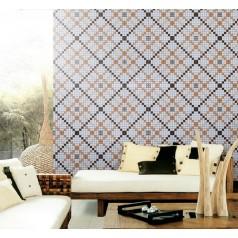 Vitreous Mosaic Tile Pattern Glazed Crystal Glass Backsplash Kitchen Design Art  Wall Tiles  S1509