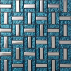 Vitreous Mosaic Tile Crystal Glass Backsplash Washroom Design Plated Dining-rooom Wall Floor Tiles