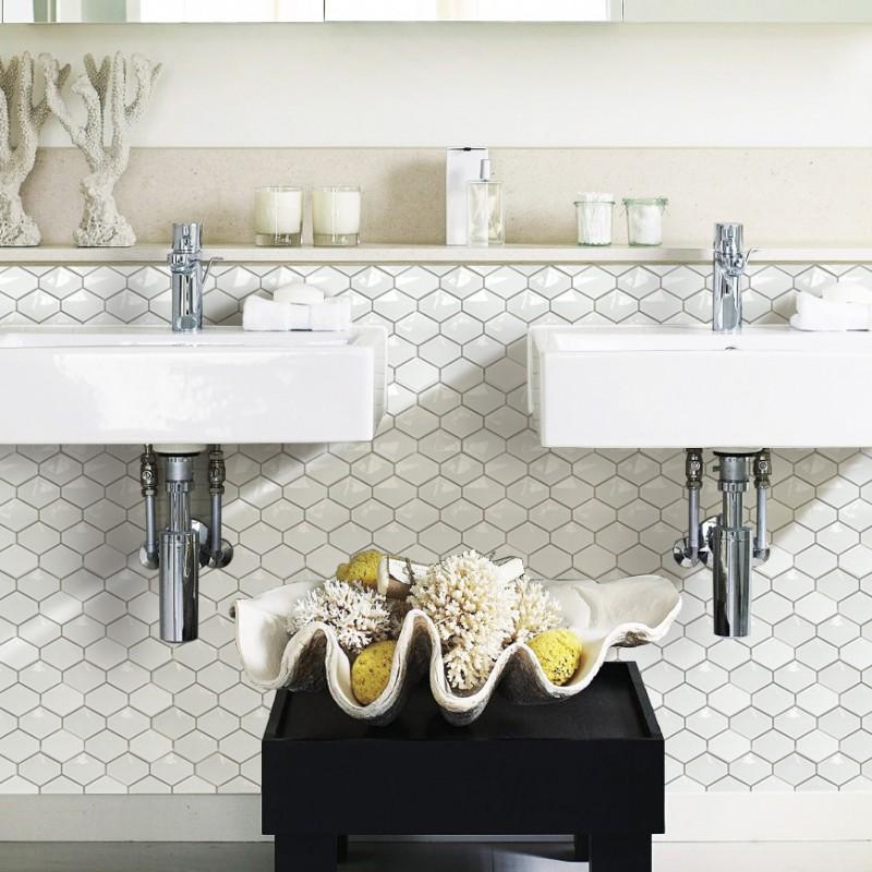 White Porcelain Tile New Design High Bake Tile Zero Water Absorption Tile Bathroom Washroom Xmgt206