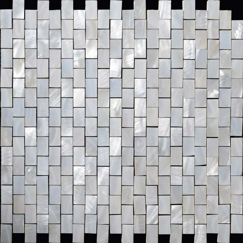 Wholesale Mother Of Pearl Mosaic With Porcelain Base White Subway