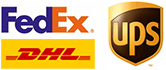 providing free shipping via fedex, dhl, ups express