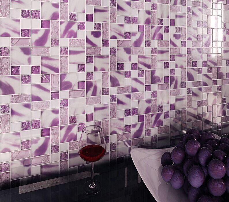 backsplash tile crystal glass mosaic tiles wall decor kitchen wall