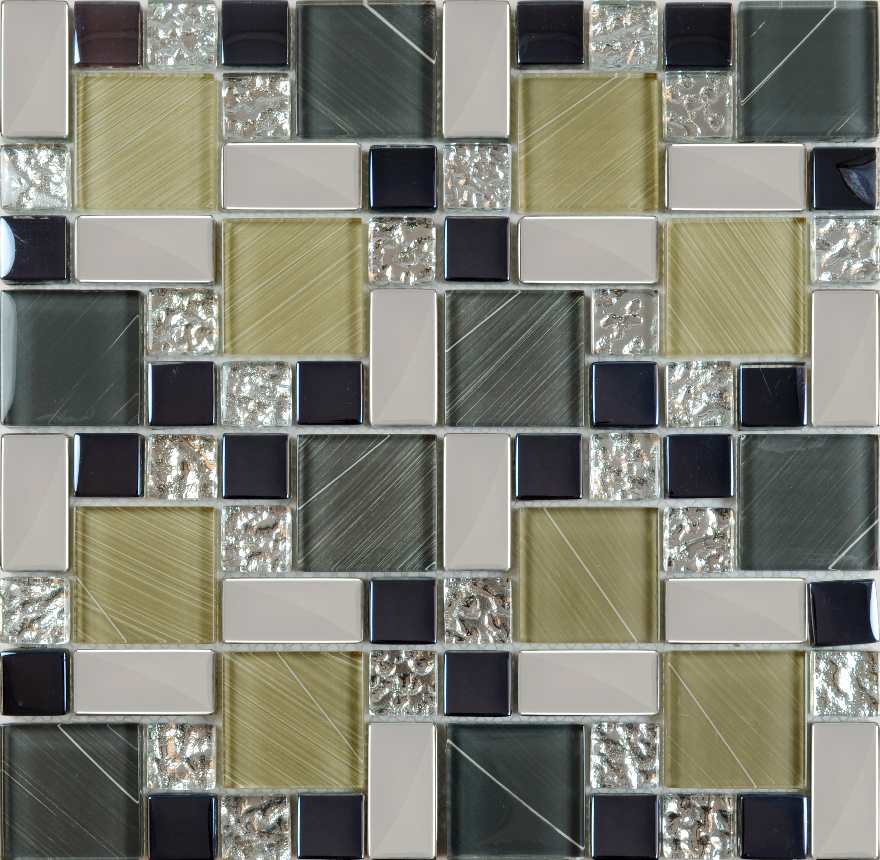 Glass Mosaic Kitchen Wall Tiles