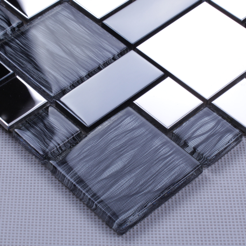 silver 304 stainless steel metal glass mesh mounted sheet