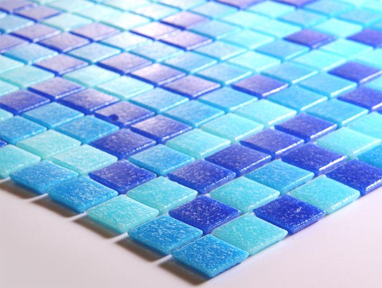 Blue Glass Mosaic Tiles Blacksplash Vitreous Mosaic Tile Bathroom Mixed Wall  Colors Stickers PT001