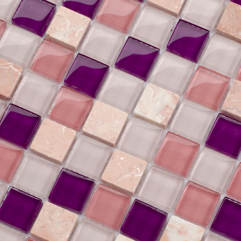 Stone Gl Mosaic Sheets Square Tiles Marble Tile Backsplash Wall 10013